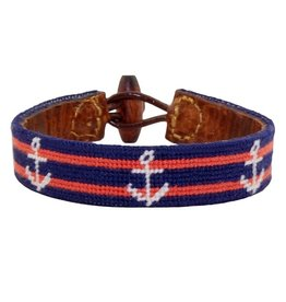 Smather's & Branson Striped Anchor Bracelet