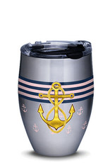 Tervis Tumbler 12oz Stainless Tumbler Gold Anchor