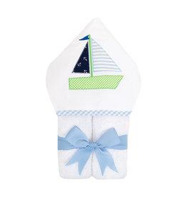 Three Marthas Everykid Towel Sailboat Boy