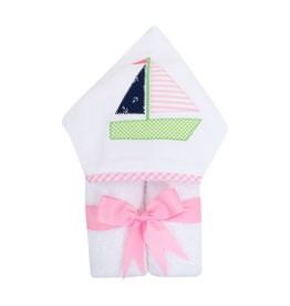 Three Marthas EveryKid Towel Sailboat Girl