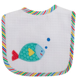 Three Marthas Feeding Bib Blue Fish