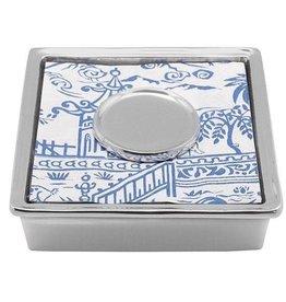 Mariposa Signature Napkin Box w/initial weight