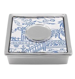 Mariposa Signature Napkin Box w/initial weight