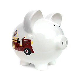 Child to Cherish Fire Truck Bank
