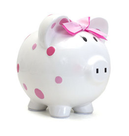Child to Cherish Bank Pink Multi Dot