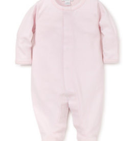 Kissy Kissy Footie Pink body/White Stitch