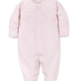 Kissy Kissy Footie Pink/White Stitching
