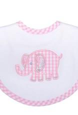 Three Marthas Bib Basic Pink Elephant