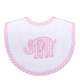 Three Marthas Bib Basic Pink Elephant