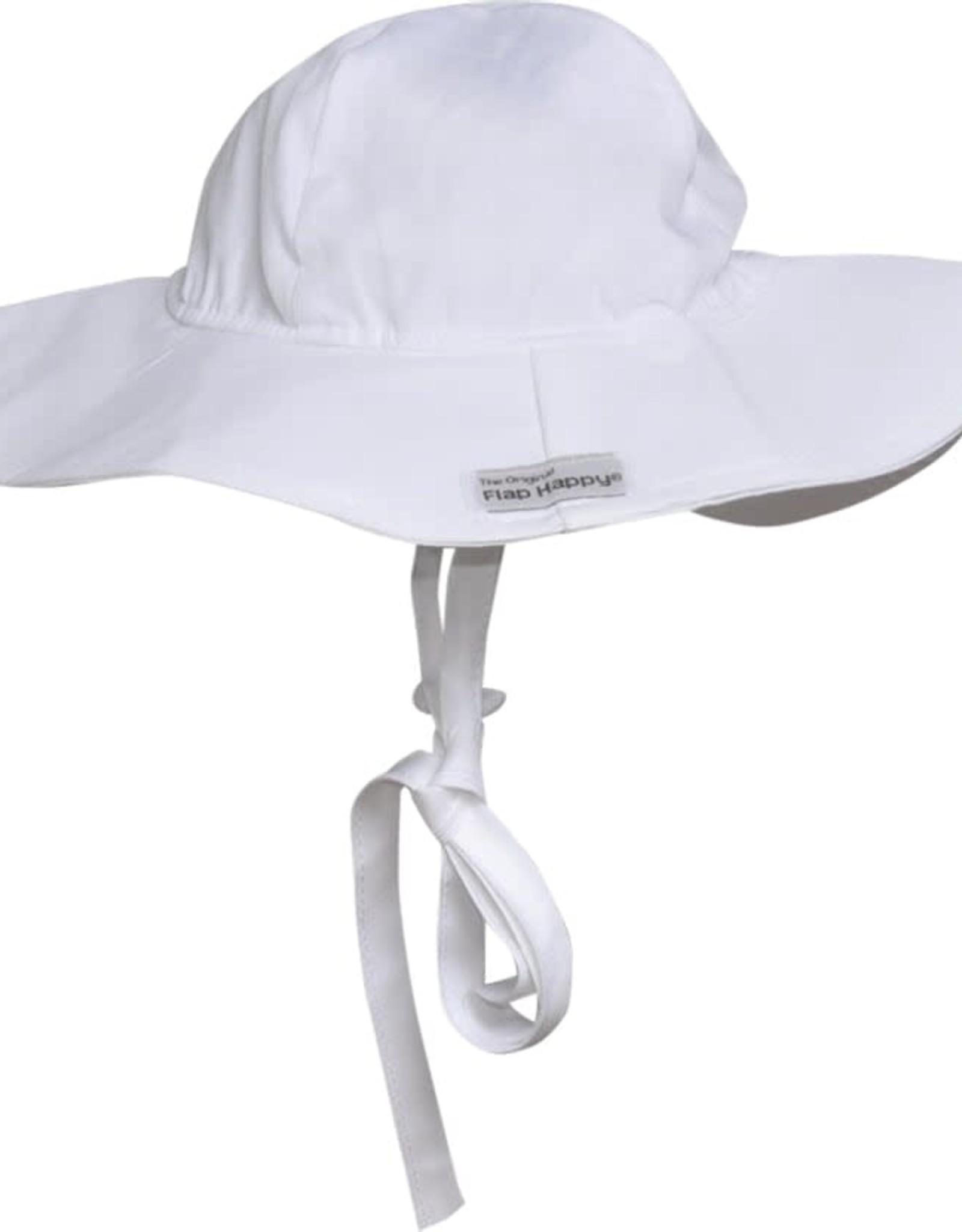 Flap Happy Floppy Hat White Poplin