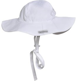 Flap Happy Floppy Hat White Poplin