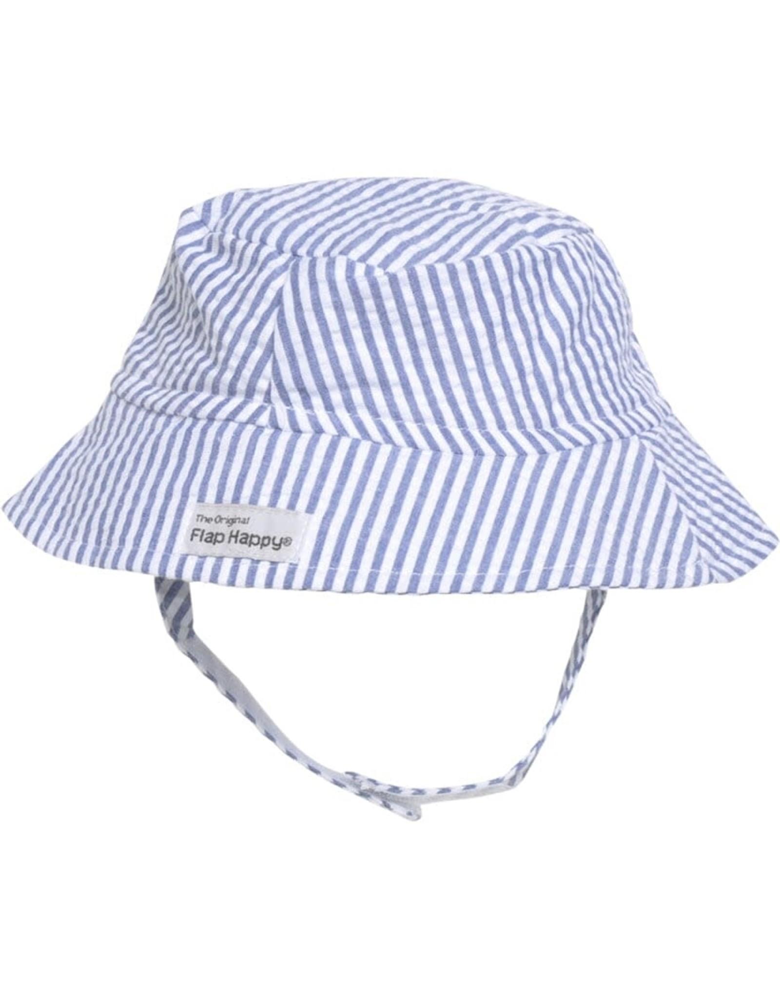 Flap Happy Bucket Hat Chambrey Seersucker