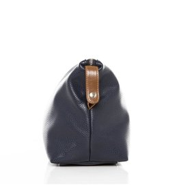 Brouk & Co Alpha Leather Toiletry bag Navy