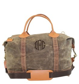 Waxed Cotton Weekender Olive & Khaki