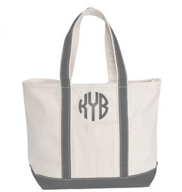 Medium Canvas Tote Grey