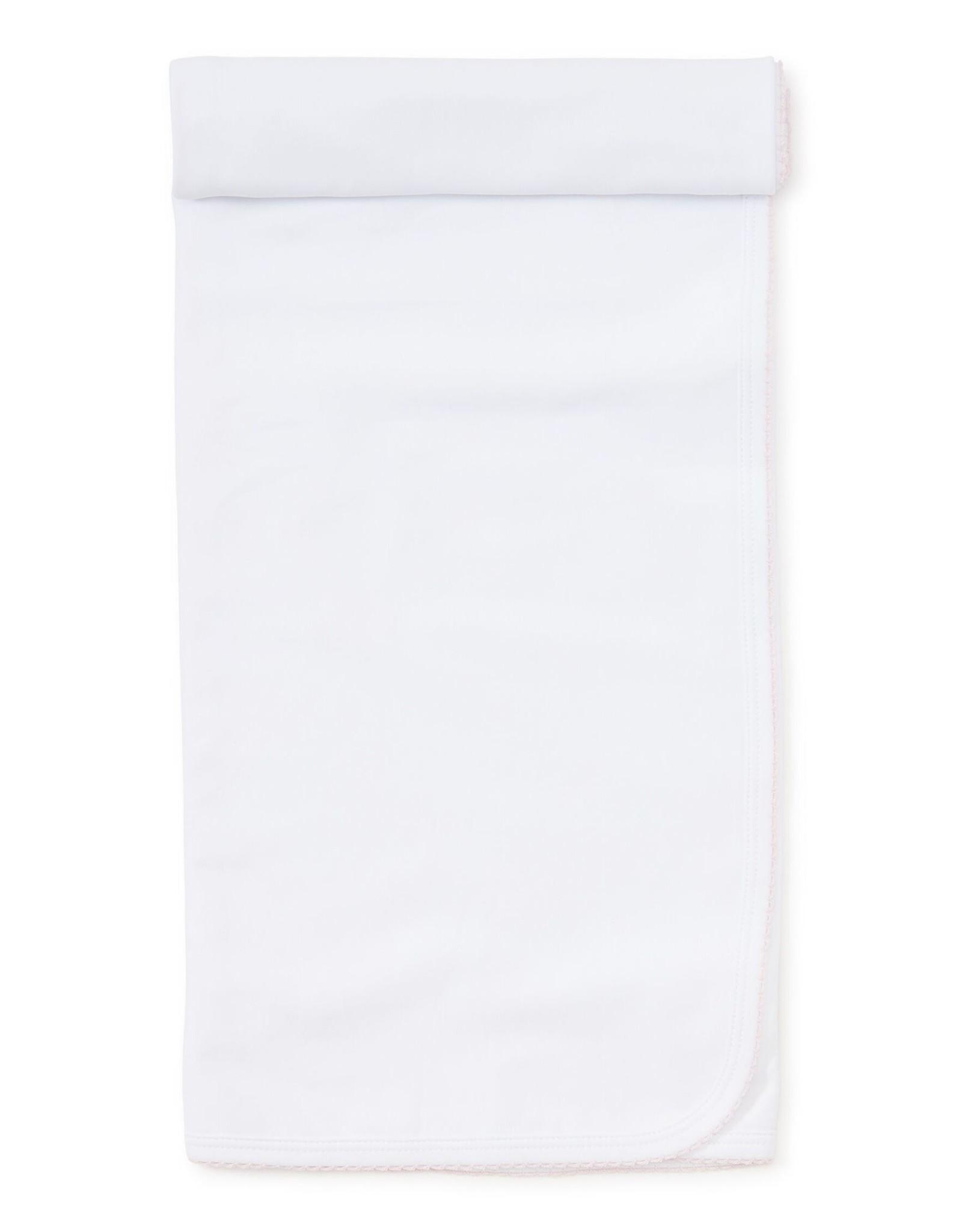 Kissy Kissy Basic Blanket White/Pink Trim