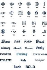 6-piece Towel Set Ivory monogrammed