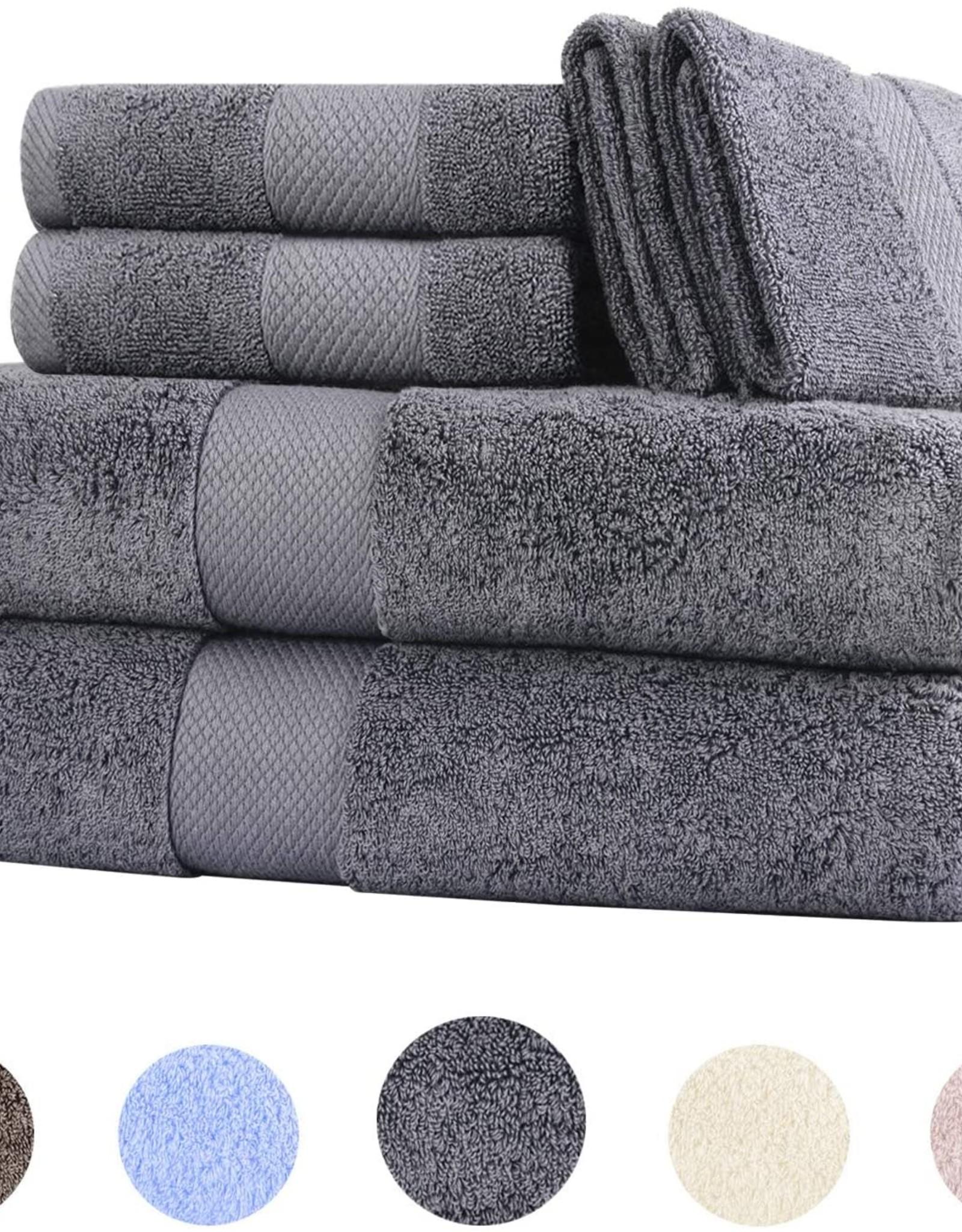 6-piece Towel Set White Monogrammed