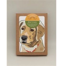 Paper Russells Tea Towel Golden Retriever