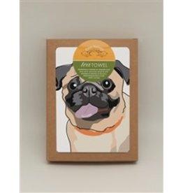 Paper Russells Tea Towel Pug