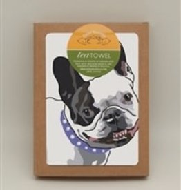 Paper Russells Tea Towel French Bulldog