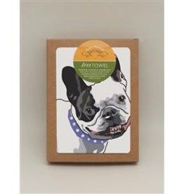 Paper Russells Tea Towel French Bulldog