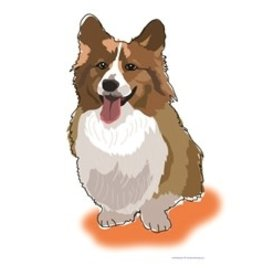 Paper Russells Tea Towel Welsh Corgi