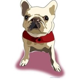 Paper Russells Tea Towel French Bulldog White