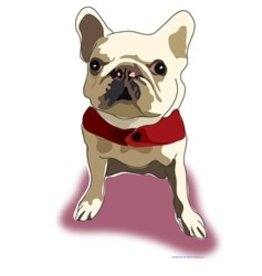 Paper Russells Tea Towel French Bulldog White