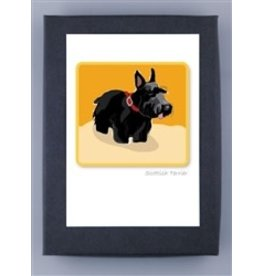Paper Russells Scottish Terrier/sand field