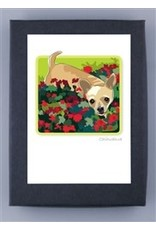 Paper Russells Chihuahua w/flowers