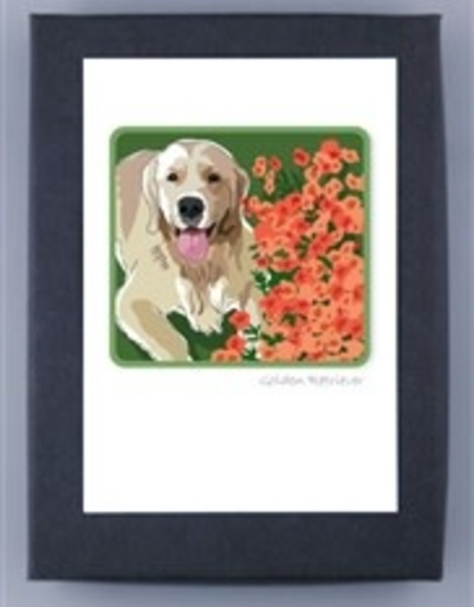 Paper Russells Golden w/flowers