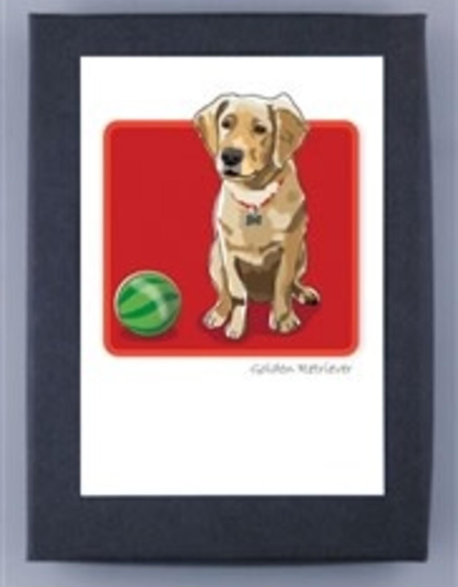 Paper Russells Golden Pup w/ball