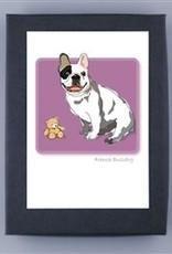 Paper Russells French Bulldog w/teddy bear