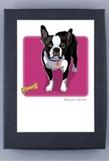Paper Russells Boston Terrier