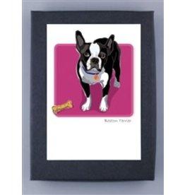 Paper Russells Boston Terrier