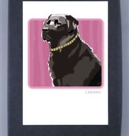 Paper Russells Black Lab Side