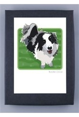 Paper Russells Border Collie Face Up