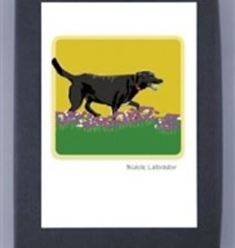 Paper Russells Black Lab Running