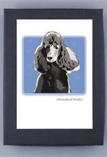 Paper Russells Black Standard Poodle Head Shot