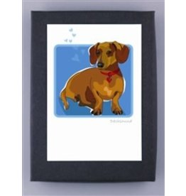Paper Russells Dachshund Brown