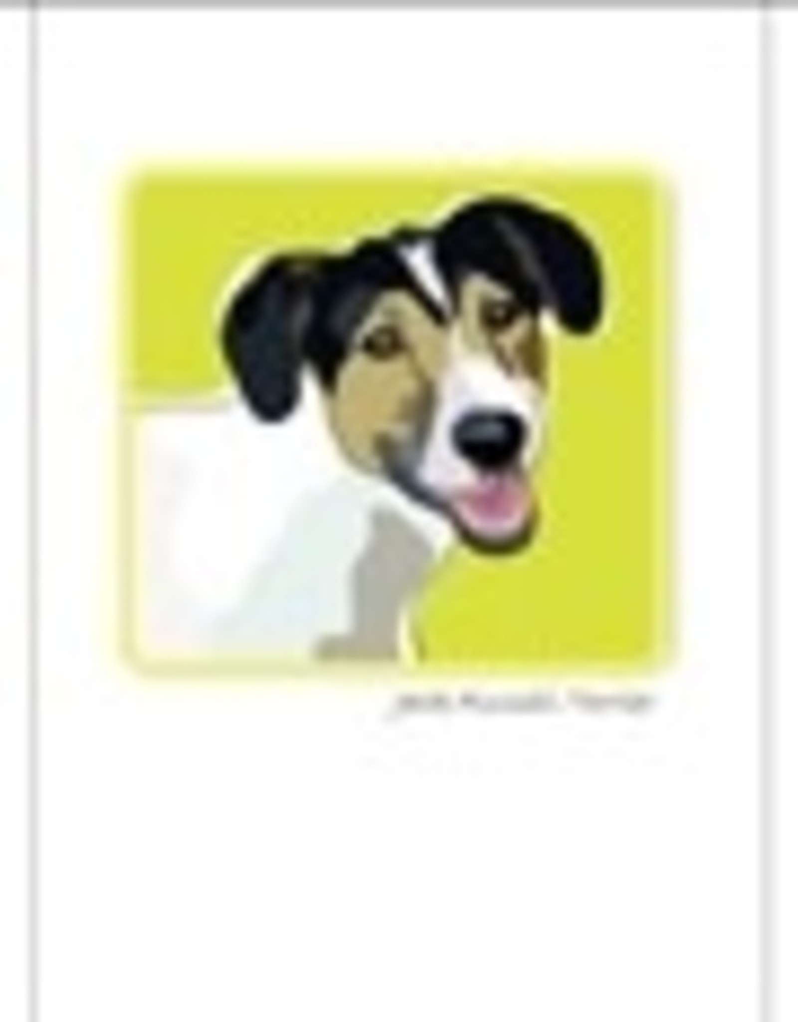 Paper Russells Jack Russell Tricolor