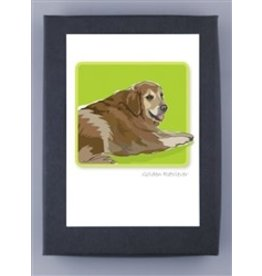 Paper Russells Golden retriever Sitting