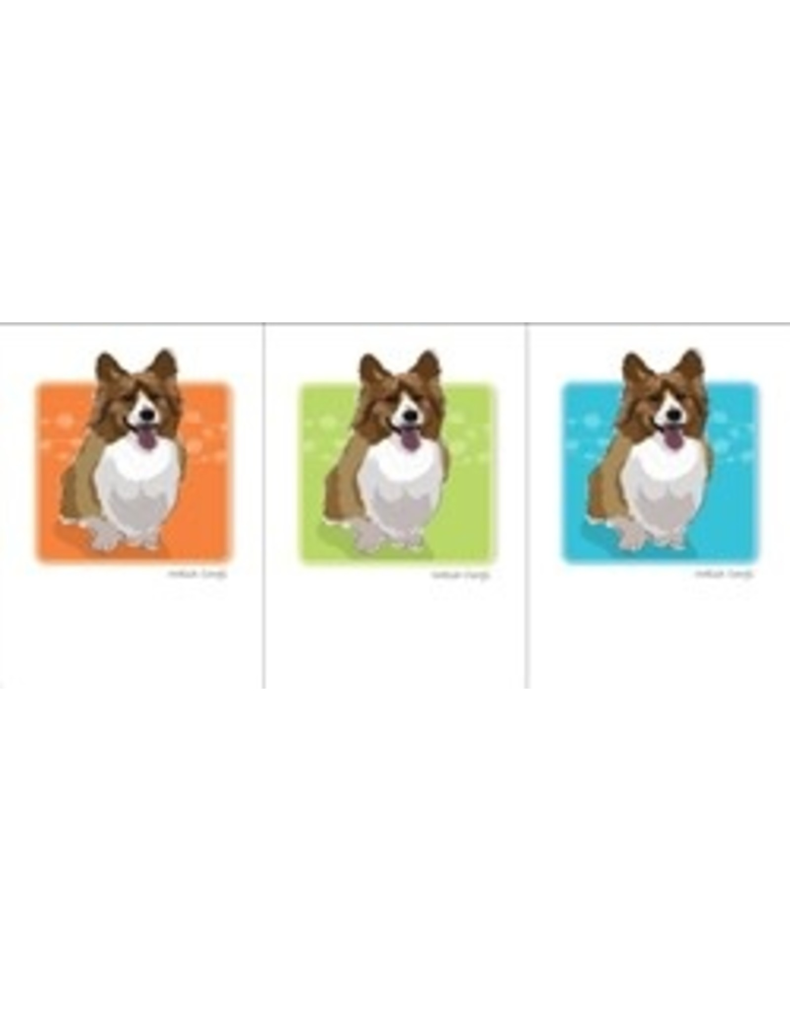 Paper Russells Welsh Corgi Puffy Chest