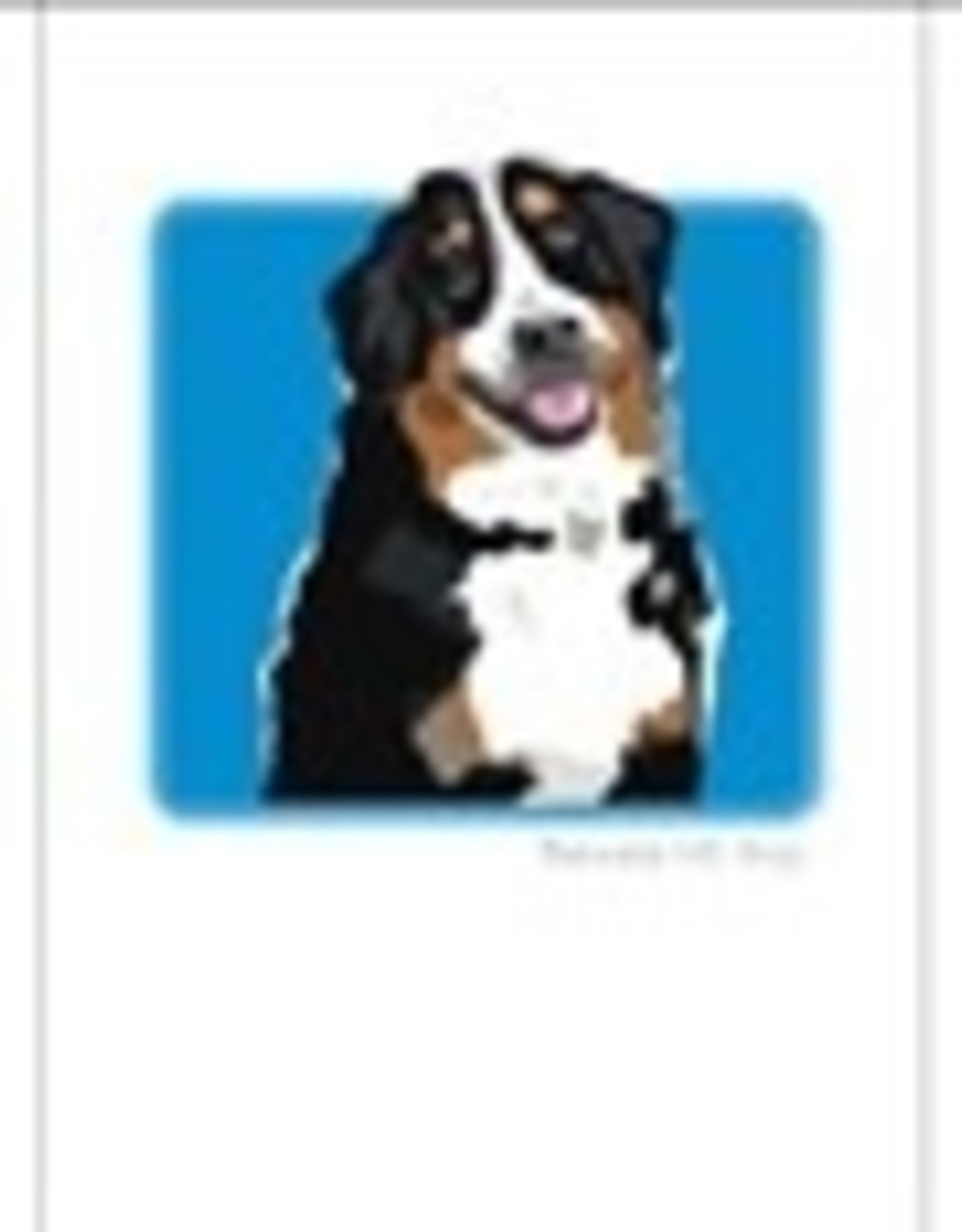 Paper Russells Bernese Mountain Dog