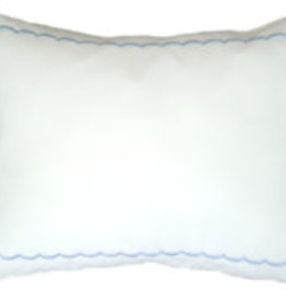 gerbrend Creations Pillow Elbow Blue Scallop