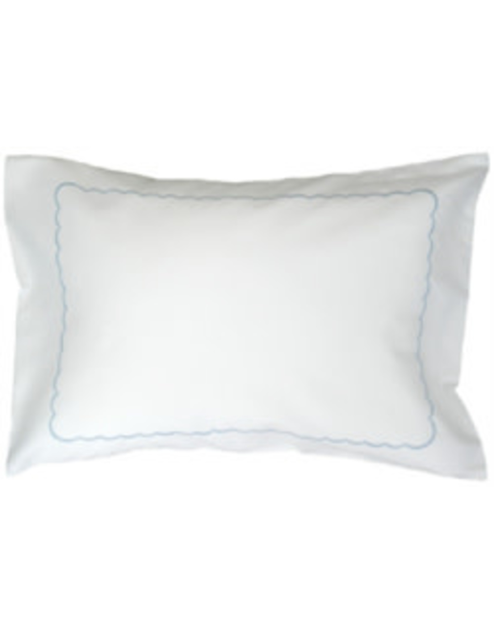 gerbrend Creations Pillow Light Blue Interior Scallop