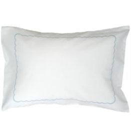 gerbrend Creations Pillow Scallop Interior Light Blue