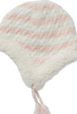 Angel Dear Sherpa Hoodie Pilot Hat Pink