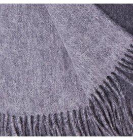 Alashan Cashmere Co. Merino/Cashmere Plain Weave Throw Charcoal